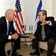 Biden in Barak in Washington Photo: Ariel Hermony, Defense Ministry