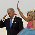 The Bidens leave Israel (archives) Photo: AFP