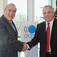 Steinitz with OECD chief Photo: Sharona Mazlian-Levy