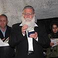 Rabbi Levanon at Joseph's Tomb Photo: Samaria Regional Council