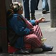 Beggar in Jerusalem. No longer allowed at Kotel Photo: Shlomi Cohen