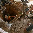 Gaza smuggling tunnel Photo: AFP
