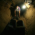 Smuggling tunnel in Rafah Photo: AFP