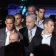 Bodyguards around PM Netanyahu Photo: Gil Yohanan