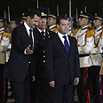 Assad and Medvedev in Damascus Photo: Reuters