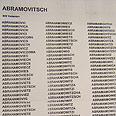 Abramovich. 849 different spellings Photo: Dor Glick