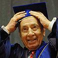 Peres. Happy president Photo: Mark Neiman, GPO
