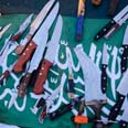 Weapons found on the Mavi Marmara Photo: IDF Spokesperson's Unit