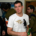 One of the soldiers in court Photo: Eliad Levy