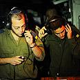 Navy soldiers speak to ship's captain Photo: IDF Spokesman's Office