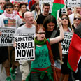 Anti-Israel protest in Dublin Photo: AFP