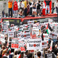 "Protest against flotilla raid in London Photo"" Reuters"