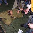 Commando during raid on Turkish ship Photo: AFP