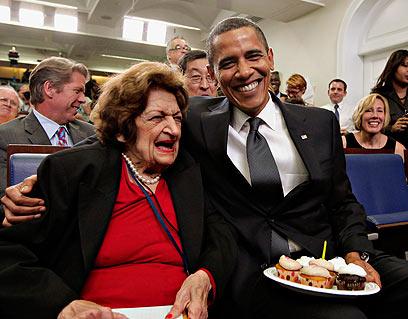 עם ברק אובמה (צילום: AP)