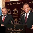 Lieberman and Lavrov Photo: AP