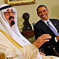 Saudi King Abdullah with Obama Photo: AP