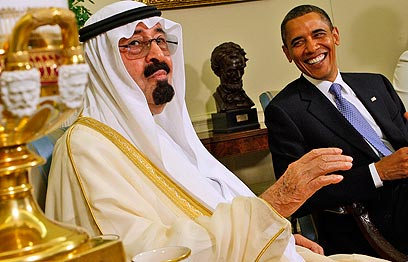 US President Barack Obama with Saudi King Abdullah (Photo: AP)