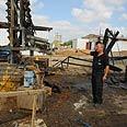 Building damaged by rocket Photo: Herzel Yosef