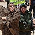 Angry east Jerusalem resident protests razing Photo: Noam Moskowitz