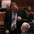 In agreement. Lieberman (L) with PM Photo: Alex Kolomoisky