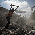 Gazans building in full force (archives) Photo: AP