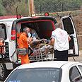 IDF soldier evacuated Photo: Avihu Shapira