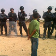 Police forces guard workers 