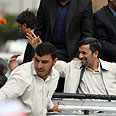 Firecracker thrown by excited fan? Ahmadinejad in Hamedan