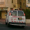 Ambulance arrives at embassy Photo: Ziv Reinstein