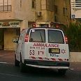 Ambulance arrives at embassy Photo: Ziv Reinstein