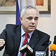 Steinitz at press conference Wednesday Photo: Noam Moscowitz