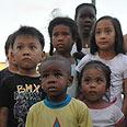 Migrant workers' kids in Tel Aviv Photo: Yaron Brener