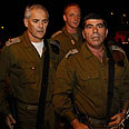 IDF Chief Ashkenazi in scene of attack Photo: Reuters