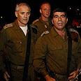 IDF Chief Ashkenazi in scene of attack Photo: Reuters