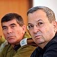 Ehud Barak, Gabi Ashkenazi Photo: Ariel Hermoni, Defense Ministry