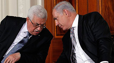 Prime Minister Benjamin Netanyahu and Palestinian President Mahmoud Abbas in 2010 (Photo: AP)