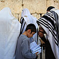 Western Wall. God asked to fulfill wishes contained in notes Photo: Reuters