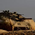 Tank on Gaza border (archives) Photo: AFP