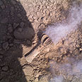 Phosphorous bomb in Negev Photo courtesy of the Eshkol Regional Council