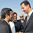 Assad and Ahmadinejad - joint training? Photo: AP