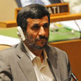 Ahmadinejad in the UN Photo: AFP