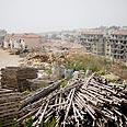 West Bank construction Photo: AP