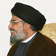 Nasrallah: Israel doesn't want talks Photo: AFP