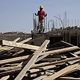 Construction work in Kiryat Arba Photo: AP