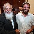 Haim Pearlman at memorial for Rabbi Kahane Photo: Gil Yohanan