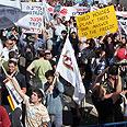 Settler protest in Jerusalem Photo: Avishag Shaar-Yashuv