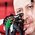 Anti-Erdogan protest in Lebanon Photo: Reuters