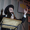 Rabbi speaks at anti-Arab protest Photo: Ofer Amram