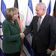 'Similar values.' Merkel and Netanyahu Photo: Gil Yohanan