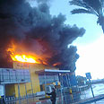 Fire at IKEA, Saturday Photo: Raanan Ben-Zur